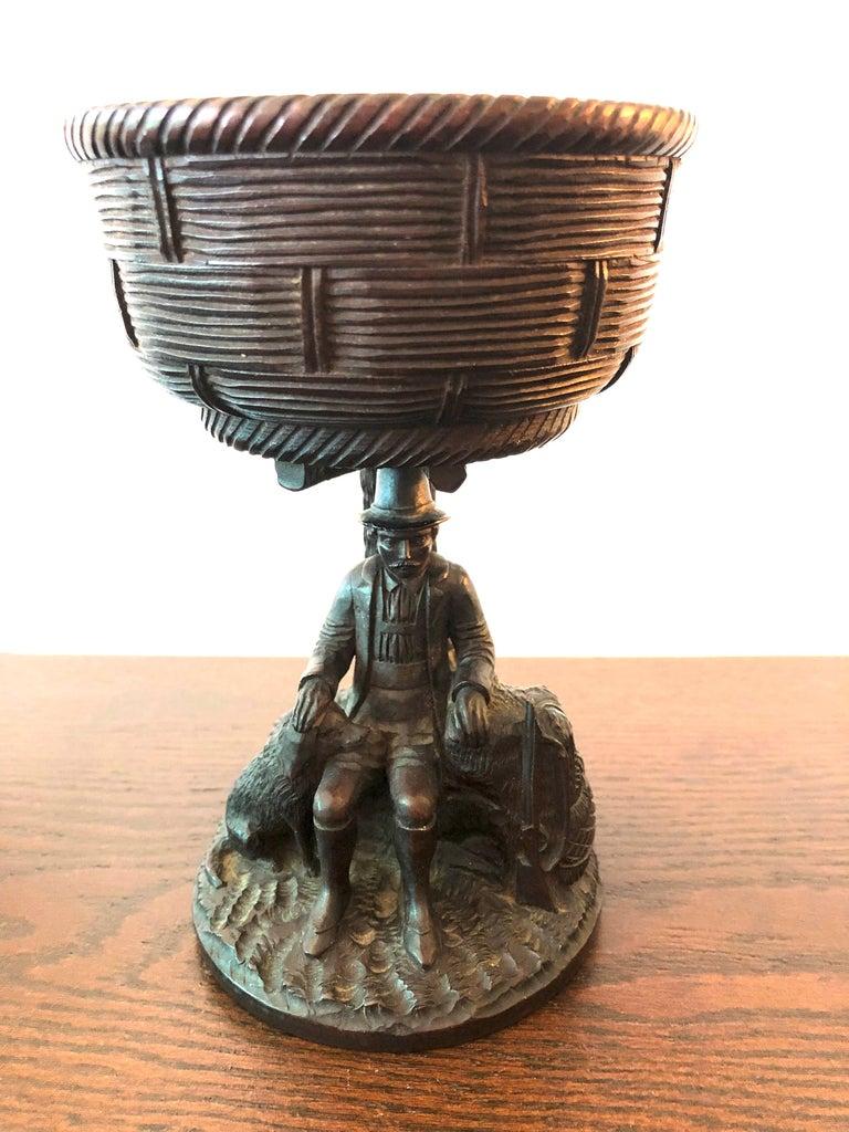 German Black Forest Carved Walnut Hunting Presentation Cup For Sale