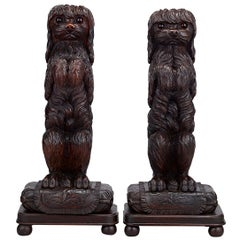 Black Forest Carved Wood Dog Door Porters