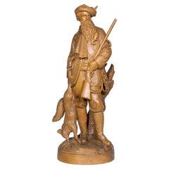 "Black Forest Carving ""The Hunter"" Attributed to Johann Huggler"