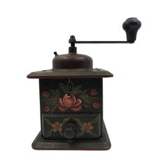 Black Forest Coffee Grinder Hand Painted