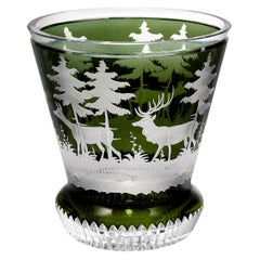 Black Forest Crystal Laterne Green Hunting Scene Sofina Boutique Kitzbuehel
