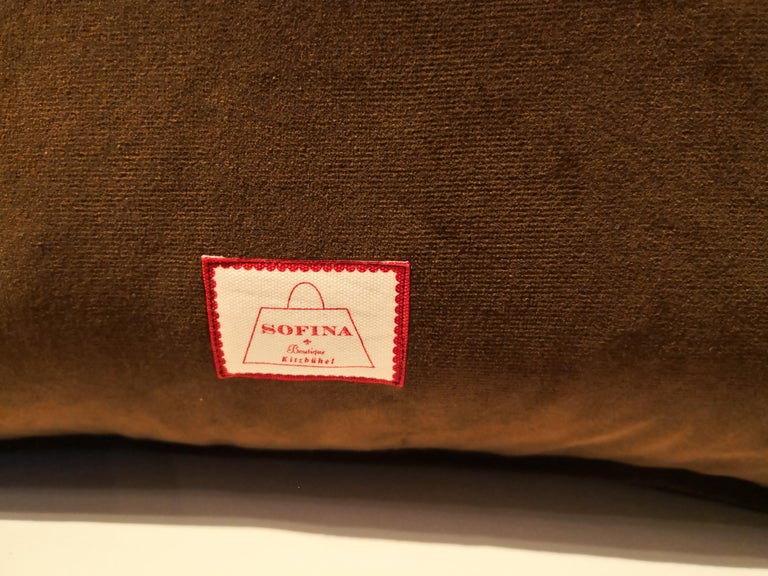 Needlework Black Forest Handmade Cushion Hunting Scene Sofina Boutique Kitzbuehel For Sale