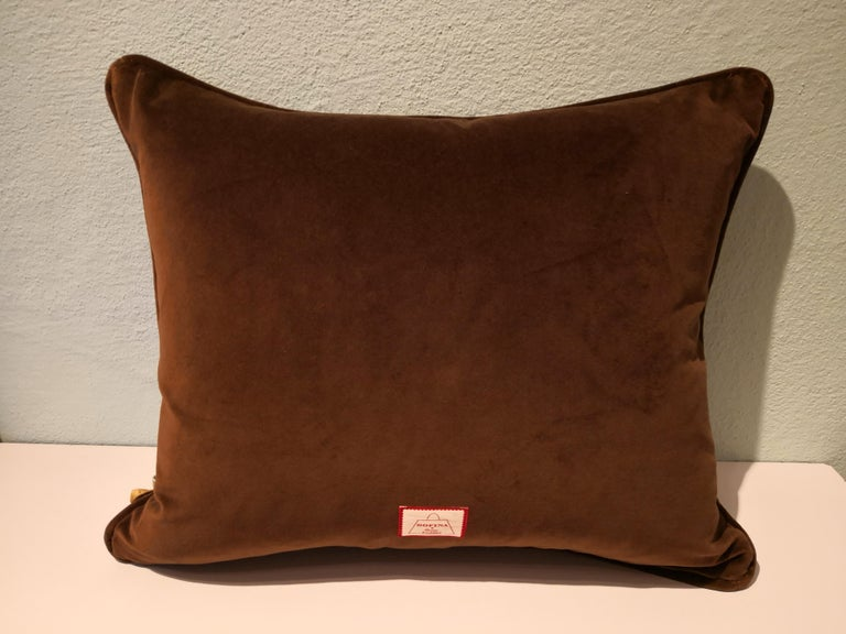 Black Forest Handmade Cushion Hunting Scene Sofina Boutique Kitzbuehel In New Condition For Sale In Kitzbuhel, AT