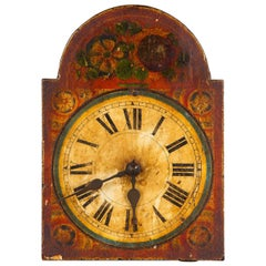 Black Forest Decorative Painted Clock Face, Germany, 19th Century