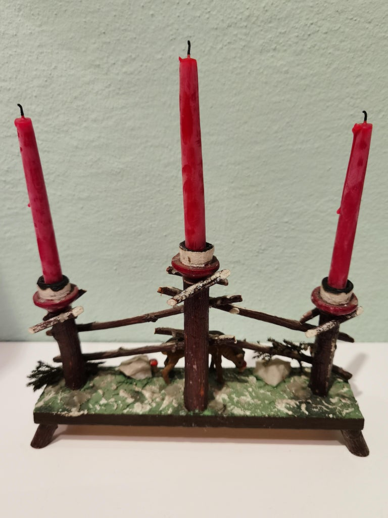 Black Forest German Candleholder In Fair Condition For Sale In Kitzbuhel, AT