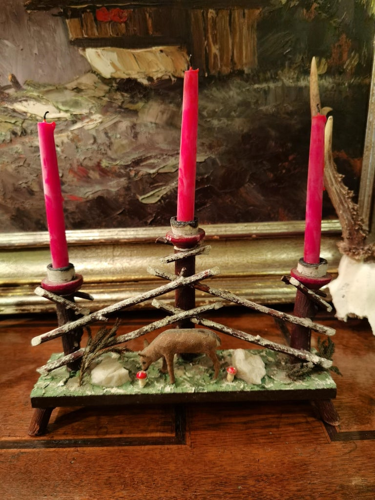 Bakelite Black Forest German Candleholder For Sale