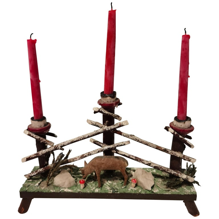Black Forest German Candleholder For Sale