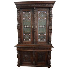 Black Forest Germany Early 1800s Renaissance Cabinet