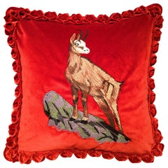 Black Forest Handmade Cushion Hunting Scene Sofina Boutique Kitzbuehel