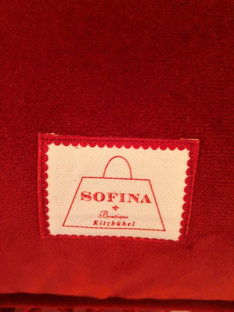 Black Forest Handmade Cushion Velvet Hunting Scene Sofina Boutique Kitzbuehel In New Condition For Sale In Kitzbuhel, AT
