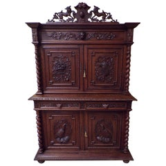 Black Forest Harvest Festival Oak Hutch, circa 1890