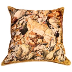 Black Forest Hermes Silk Cushion Hunting Design Boutique Kitzbuehel