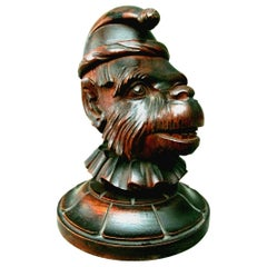 Black Forest Humidor in the Form of a Monkey's Head, Switzerland, Circa 1920