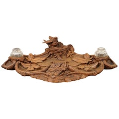 Black Forest Inkwell with Bird and Nest