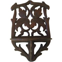 Black Forest Leaves Wall Bracket, circa 1900