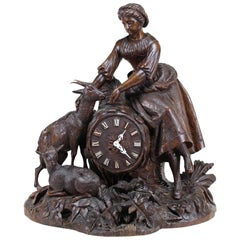 Black Forest mantel clock, German, circa 1890