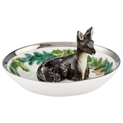 Black Forest Porcelain Bowl Hand Painted Deer Figure Sofina Boutique Kitzbühel
