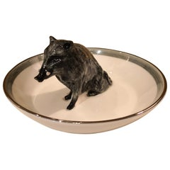 Black Forest Porcelain Bowl with Wild Boar Figure Sofina Boutique Kitzbuehel
