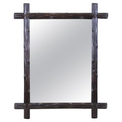 Black Forest Rustic Wall Mirror Hand Carved, Austria, circa 1890