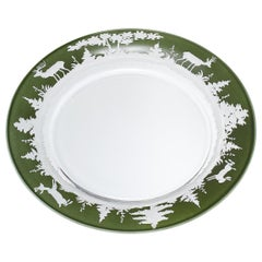 Black Forest Set of Six Glass Plates Green Sofina Boutique Kitzbühel