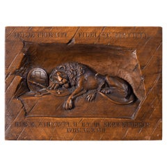 'Black Forest' Walnut Version of the Lion of Lucerne