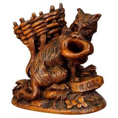 Black Forest Wooden Carved Begging Dog, Brienz, ca. 1900