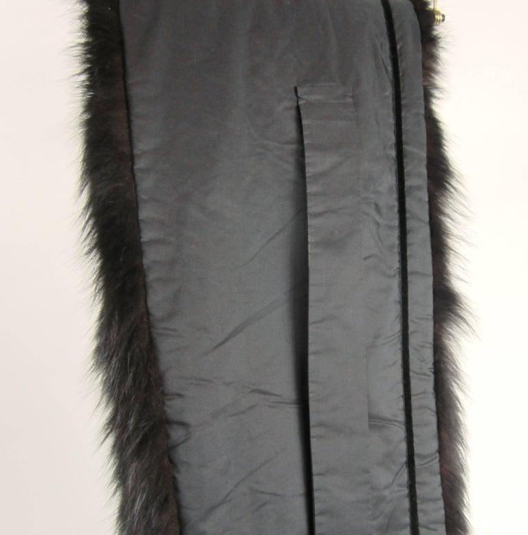 Black Fox Fur Stole Wrap Vintage 1980s For Sale 6