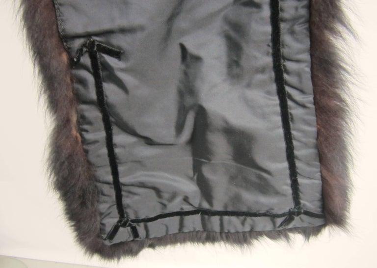Black Fox Fur Stole Wrap Vintage 1980s For Sale 7