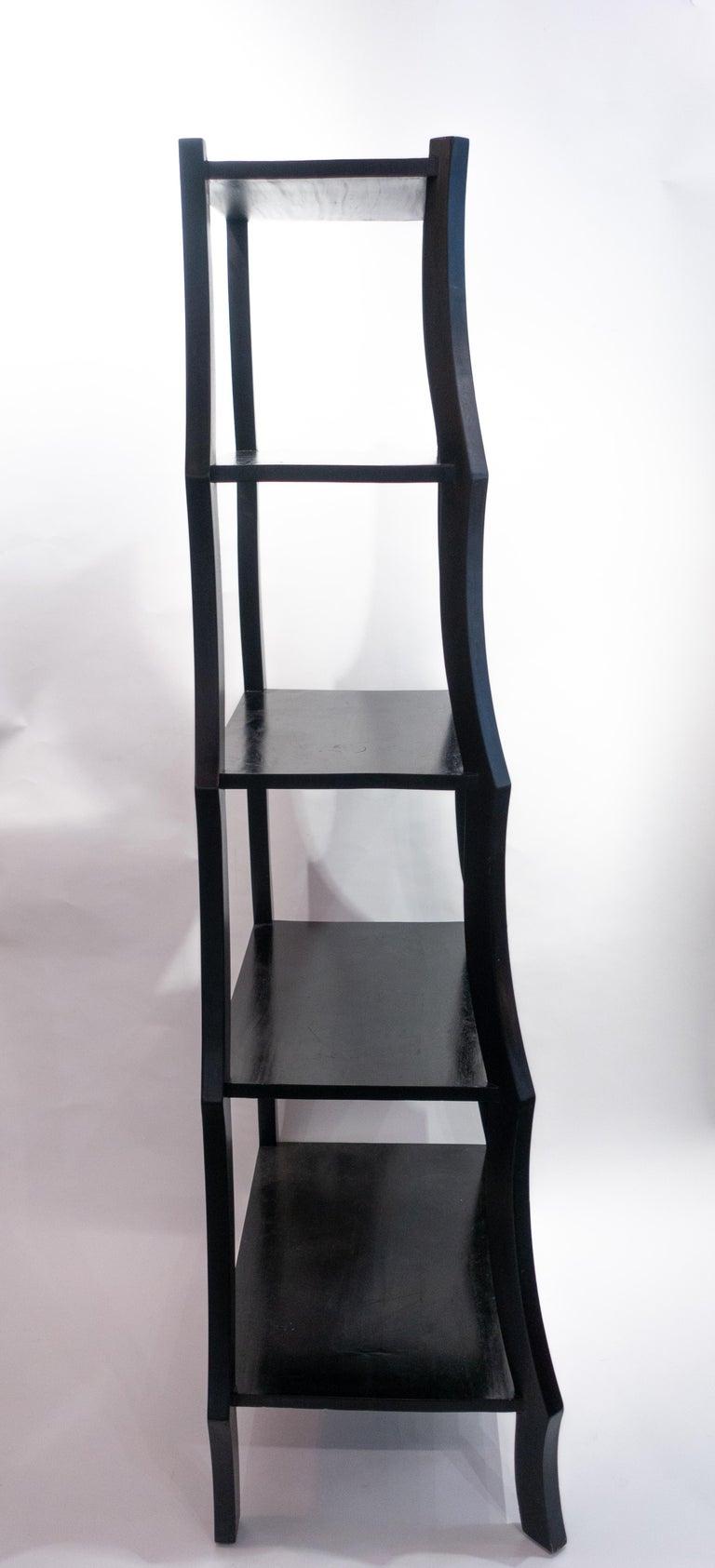 Contemporary Black Free Standing Étagère For Sale