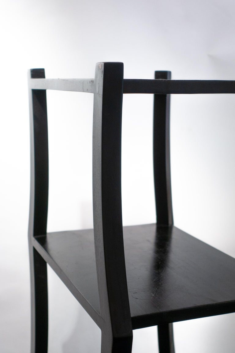 Wood Black Free Standing Étagère For Sale