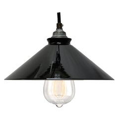 Black French Opaline Glass Shades French Pendant Lights