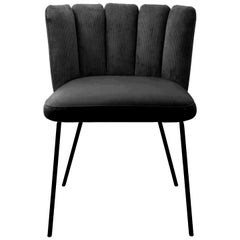 Black Gaia Chair by Monica Armani, Designed in Italy
