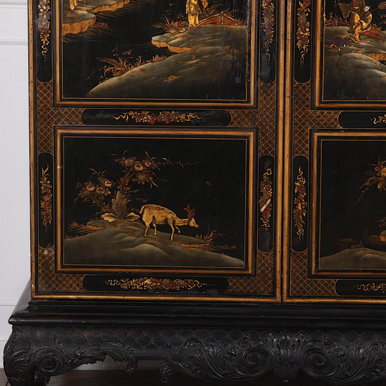 Black and Gilt Lacquered 'Japanned' Armoire from Paris For Sale 2