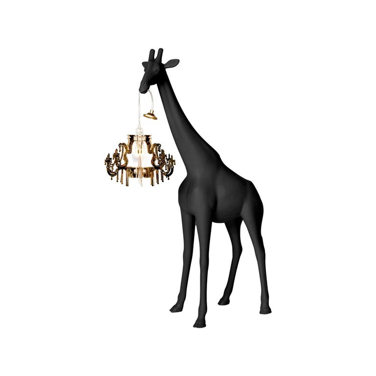 In Stock in Los Angeles, Black Giraffe in Love XS Chandelier by Marcantonio For Sale 2