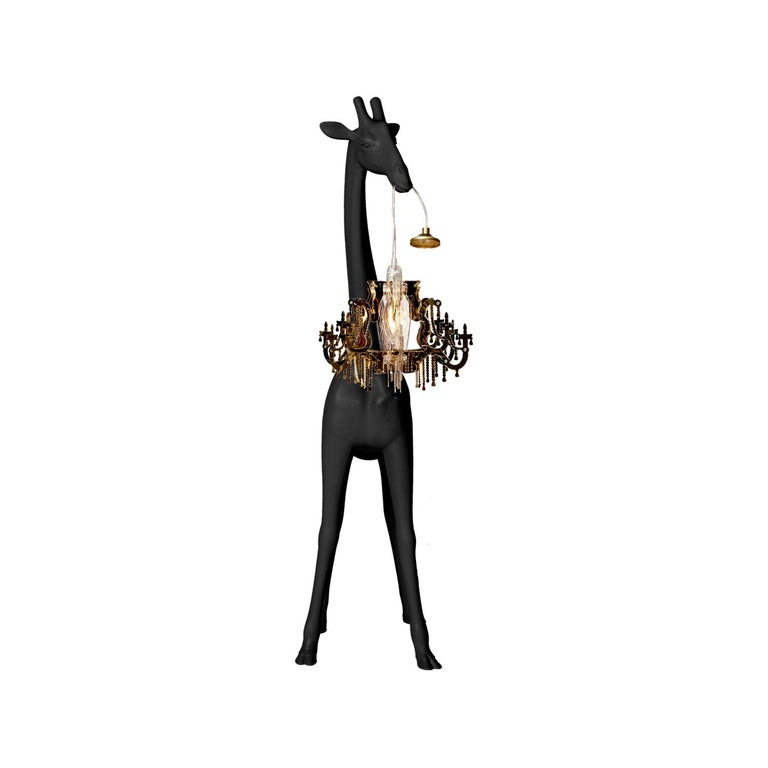 In Stock in Los Angeles, Black Giraffe in Love XS Chandelier by Marcantonio For Sale 3