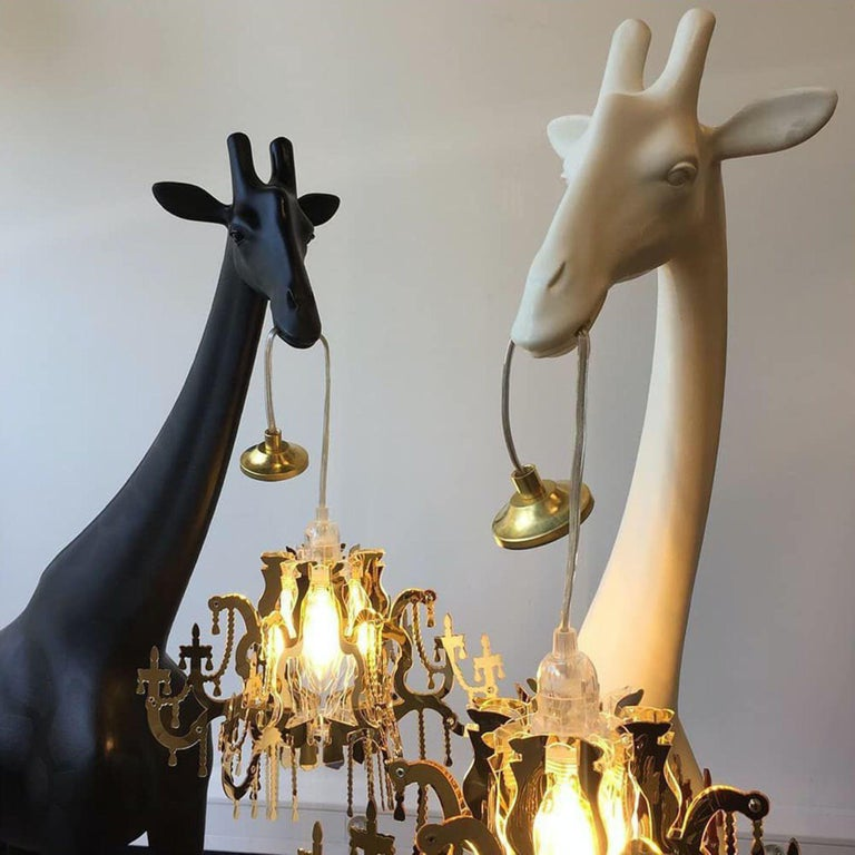 Modern In Stock in Los Angeles, Black Giraffe in Love XS Chandelier by Marcantonio For Sale