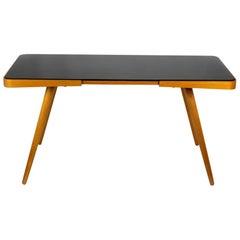 Black Glass Top Coffee Table by Jiri Jiroutek for Cesky Nabytek, 1960s
