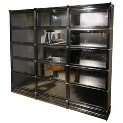 Black Globe Wernicke Bookcase Consisting of 15 Stackable Parts