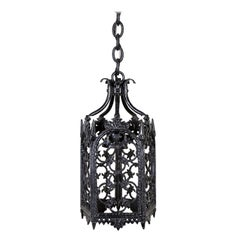 Black Gothic Wrought Iron Lantern