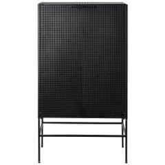 Black Grid Cabinet by Kristina Dam Studio