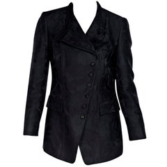 Gucci Black Brocade Wool-Blend Jacket