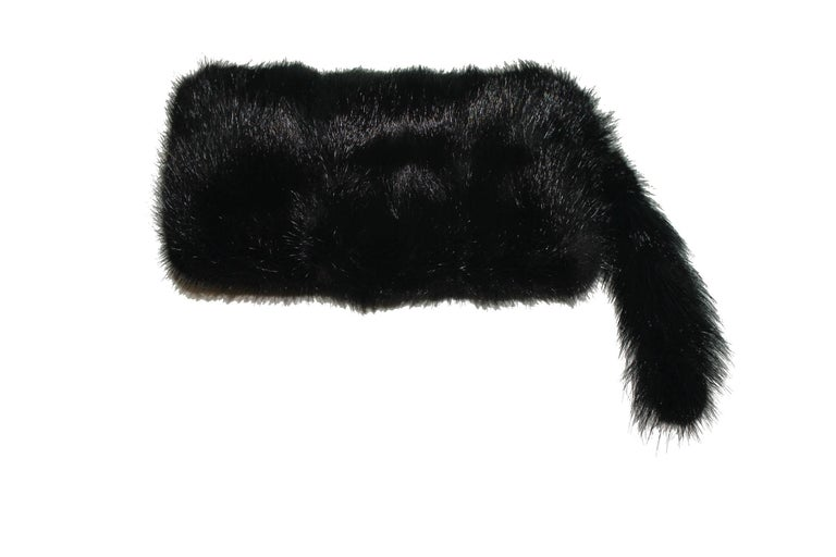 EXTREMELY RARE  GUCCI BY TOM FORD  GORGEOUS FUR EVENING BAG  WITH STUNNING JEWELED DRAGON DETAIL  DETAILS:  A GUCCI signature piece that will last you for many years From one of GUCCI's most stunning collections by Tom Ford Very rare Collector's