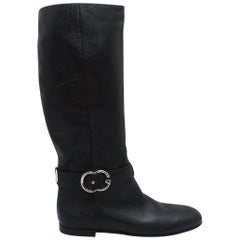 Black Gucci Leather Boots