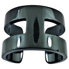 "Black ""H"" Style Horn Cuff/Bangle"
