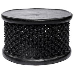 Black Hand-Carved Coffee Table from Africa