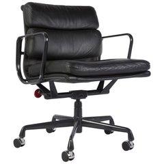 Black Herman Miller Original Eames EA435 'Soft Pad' Desk Aluminum Chair