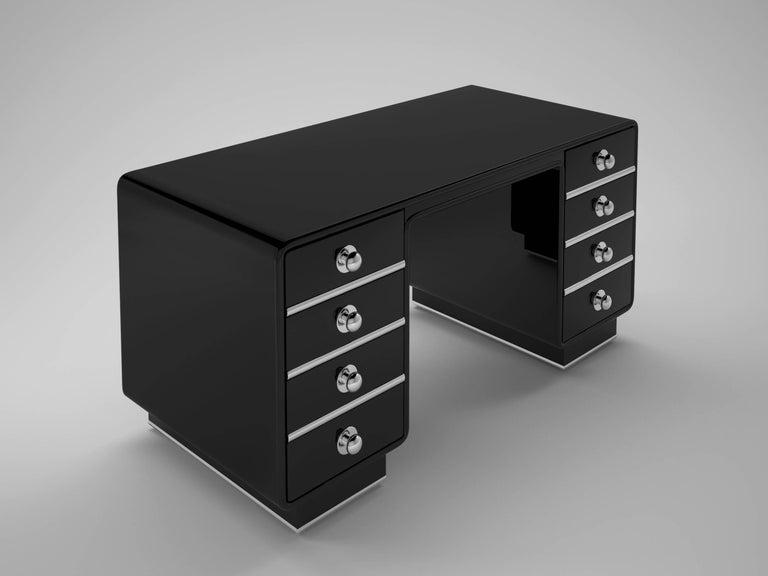 Design Schreibtisch Hochglanz Schwarz Im Angebot Bei 1stdibs