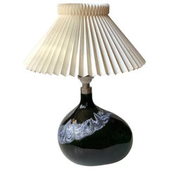 Black Holmegaard Table Lamp 'Art Asymmetrical' by Michael Bang, Denmark, 1970s