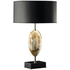 Black Horn Table Lamp