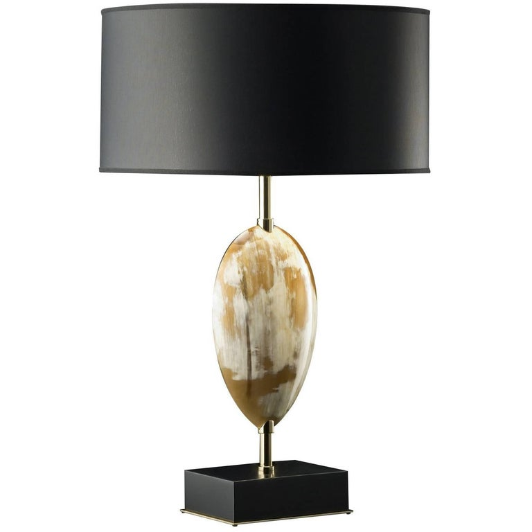 Black Horn Table Lamp